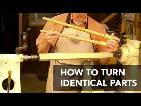 Turning Identical Parts on the Lathe