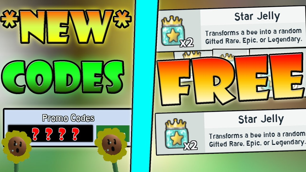 Free Star Jelly New 2 Op Codes Roblox Bee Swarm