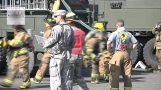 Army Reserve Firefighters Search and Rescue Training