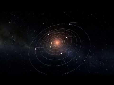 TRAPPIST-1 system - simulation in Stellarium