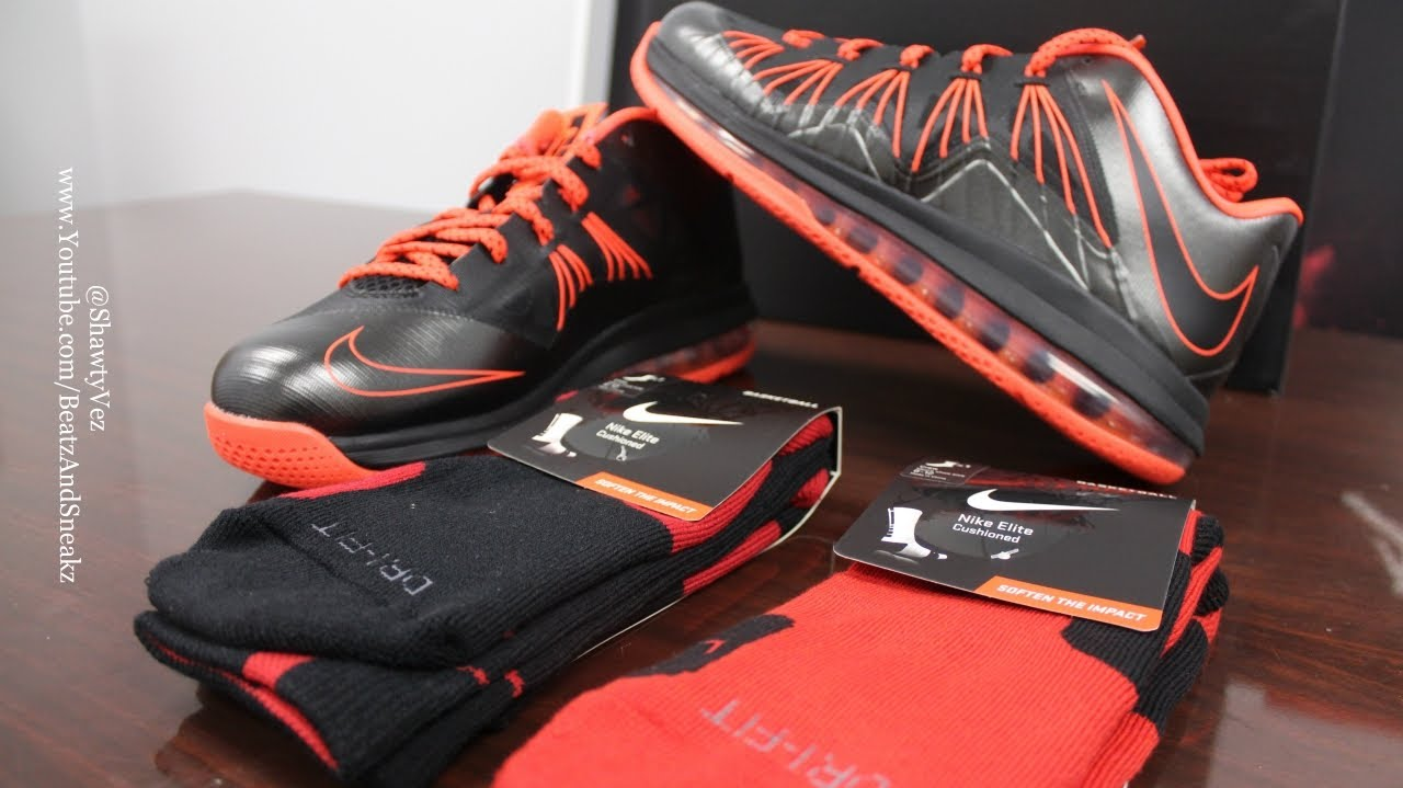 Nike LeBron 10 Low Black Total Crimson