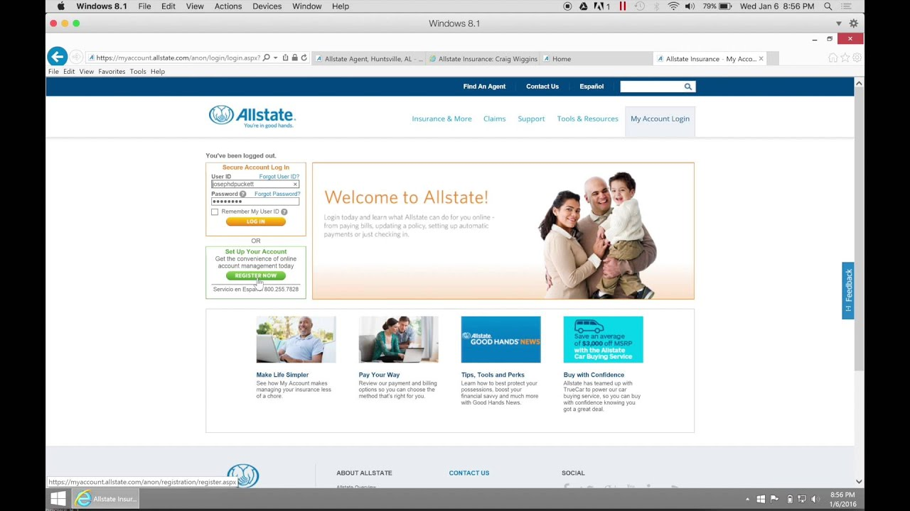 Allstate My Account >> Epolicy How Do I Sign Up Brought To You By Joseph Puckett Craig Wiggins Agencies