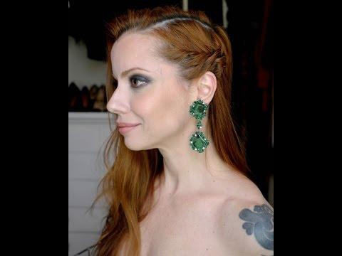 Julia Petit Passo A Passo Azul E Verde Cabelo