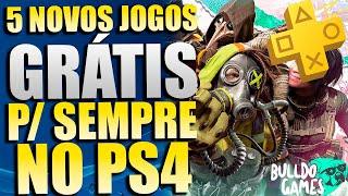 5 NOVOS JOGOS GRÁTIS PARA SEMPRE NO PS4 !!! SÓ JOGÃO !!!