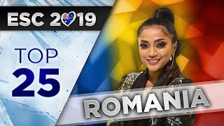 NEW! Top 25 - Romania Eurovision 2019 (Selectia Nationala)