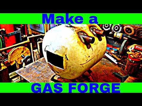 Propane Tank Forge Build: How to Build a Gas Forge with On Hand Materials