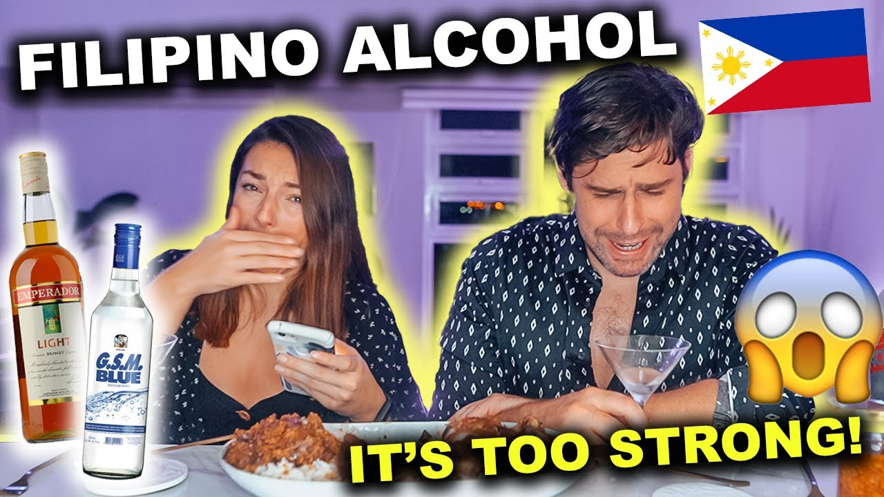FOREIGNERS react to FILIPINO ALCOHOL - we regret THIS!