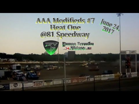 AAA Modifieds #8, Heat, 81 Speedway, 2017
