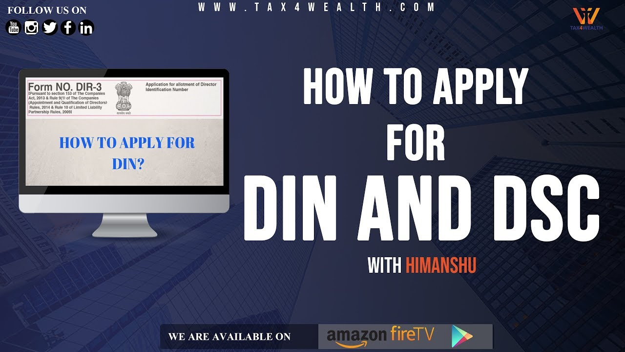 DIN and DSC : How to Apply DIN AND DSC