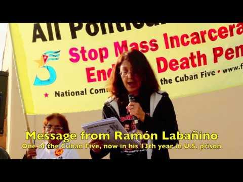 Gloria La Riva at Occupy4Prisoners Demo