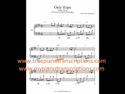 86 Mb Only Hope Sheet Music Free Download Mp3