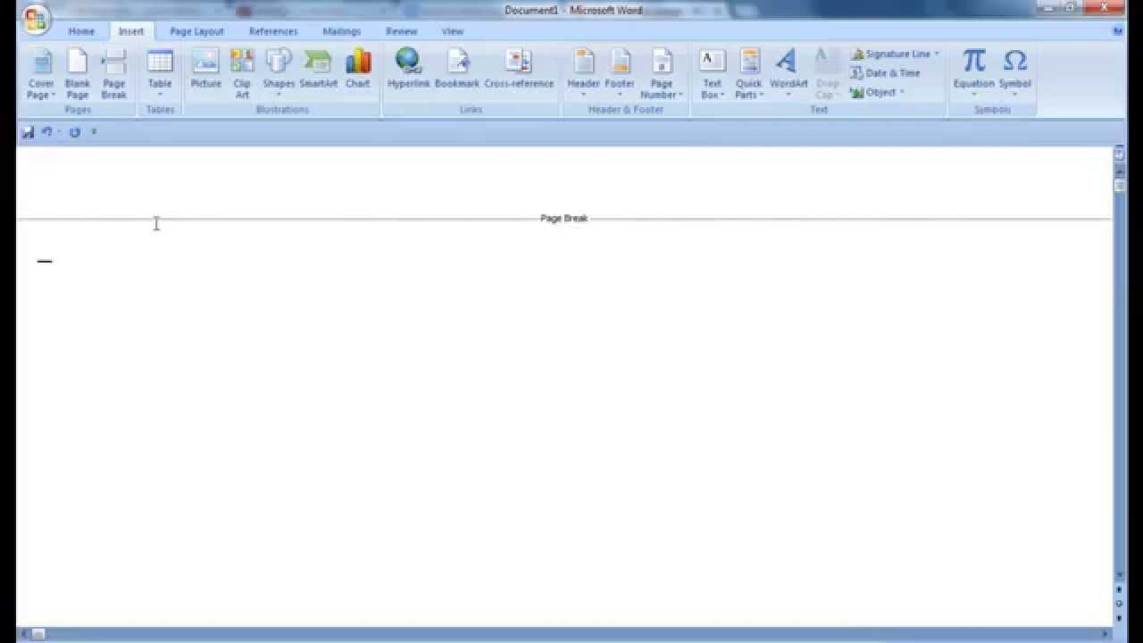 How To Delete Blank Page In MIcrosoft Word 2007