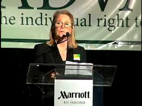 Brenda Pogge and Senator Mark Obenshain address Americans for Prosperity Part 1