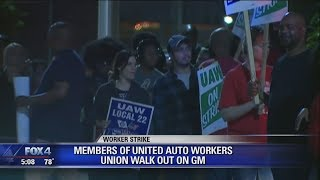 50,000 United Auto Workers on strike, forcing General Motors plants to shut down