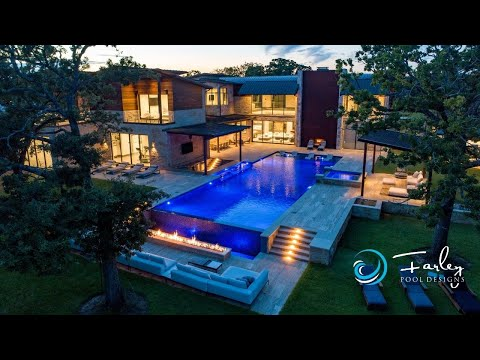 Colleyville Contemporary Swim Up Bar Pool Construction Time-Lapse