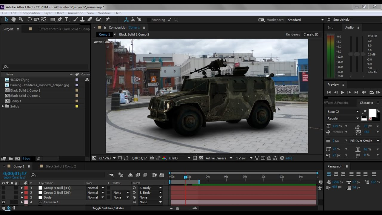 How to animate car in after effects cc element 3d youtube for Habitacion 3d after effects