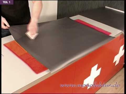 Küchenschränke mit Folie bekleben