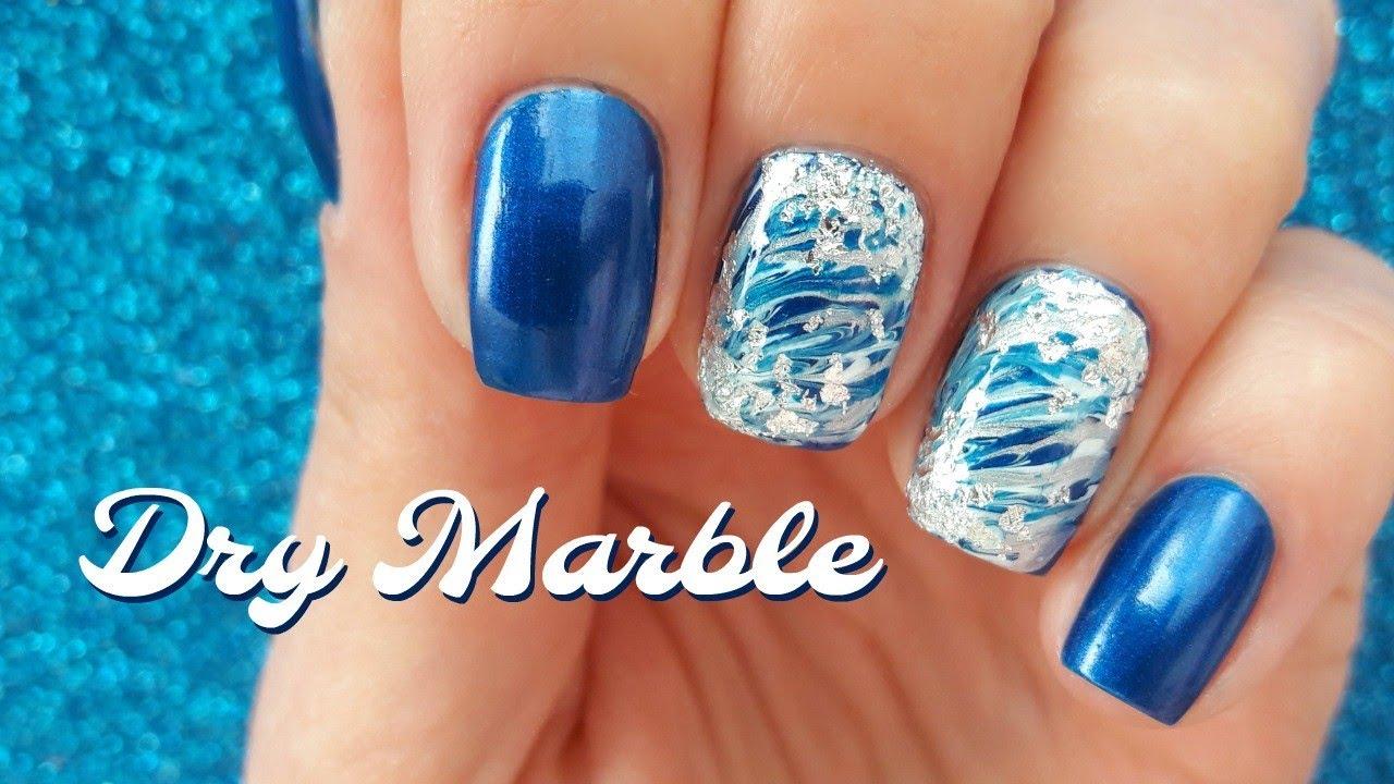 Dry Marble Nail Art Tutorial Youtube