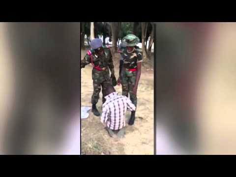 Video: Female Army Trainee Tortures A Man Badly For Calling Her Beautiful