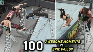WWE 2K19 Top 100 Awesome Moments vs Epic Fails!! WWE 2K20 Countdown