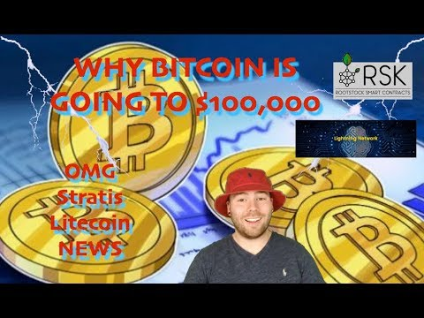 Why Bitcoin WILL Hit $100,000 In 2019 | OmiseGo Stratis Litecoin | RootStock & Lightning Network