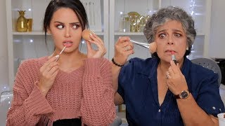 My Grumpy Grandma Follows My Makeup... not ready!
