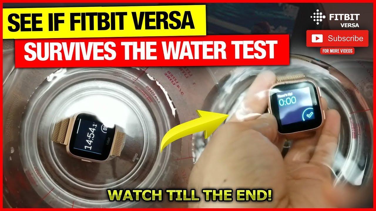 Fitbit Versa/Versa Lite Edition/Versa 2 Water Test 💧🚿🌧️🌊⌚👍