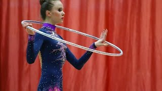 Averina Arina rhythmic gymnastics performance of Hoop. championship on rhythmic gymnastics