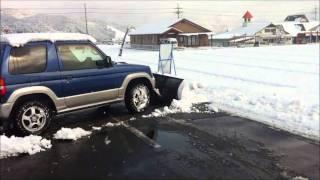 Repeat youtube video スノープラウでの除雪ジムニー・パジェロミニAT スノープラウ販売