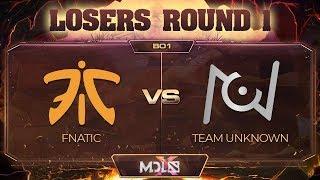 Fnatic vs Team Unknown - MDL Chengdu Major: Losers' Round 1