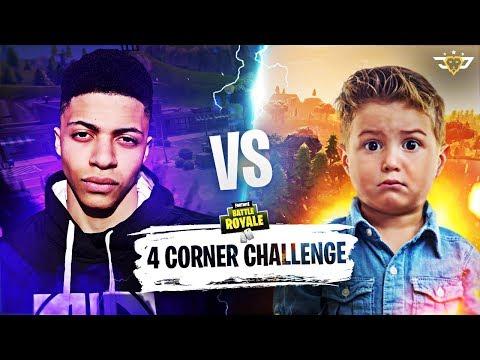 CONNOR VS MYTH - FOUR CORNER CHALLENGE GONE WRONG! (Fortnite: Battle Royale)