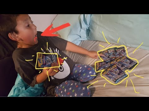 TOOTH FAIRY BRINGS BOOSTER PACKS AGAIN! Ethans Tooth Falls Off On Camera! Trades for POKEMON CARDS!!