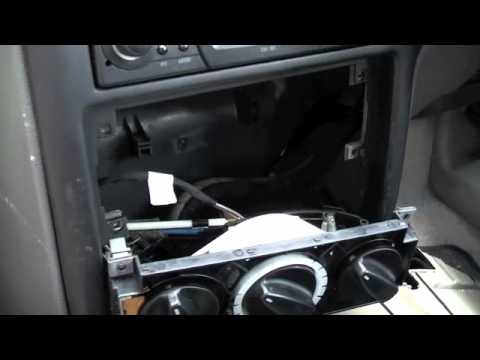 Tutorial, How To Remove The Heater Control Unit on a Seat