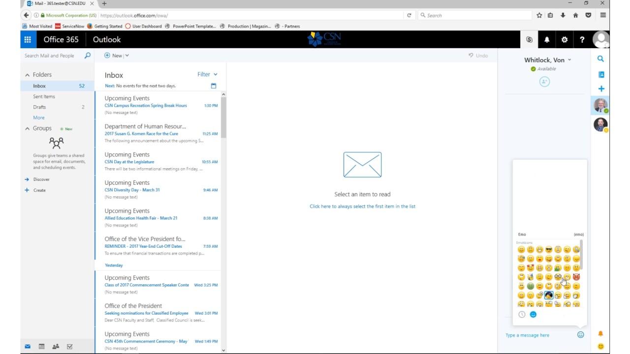 CSN Email | CSN