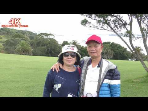 (4K) 奧克蘭薩維齊紀念公園,奧克籣港灣風景,Michael Joseph Savage Memorial Park-Auckland,4K Ultra HD