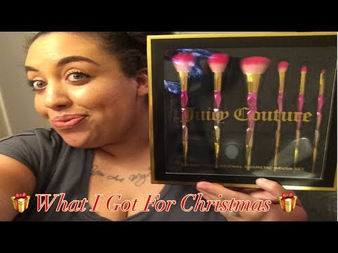 What I Got For Christmas!! | Juicy Couture 6 Piece Brush Set from Burlington Coat Factory Review