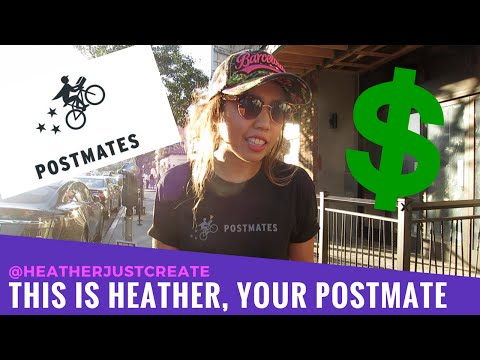 SIDE HUSTLE - My Postmates Review for Couriers | Vlog 044