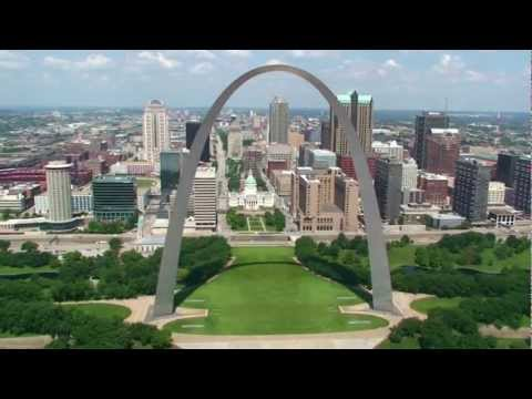 2012 Aerial Video of St Louis Missouri Landmarks
