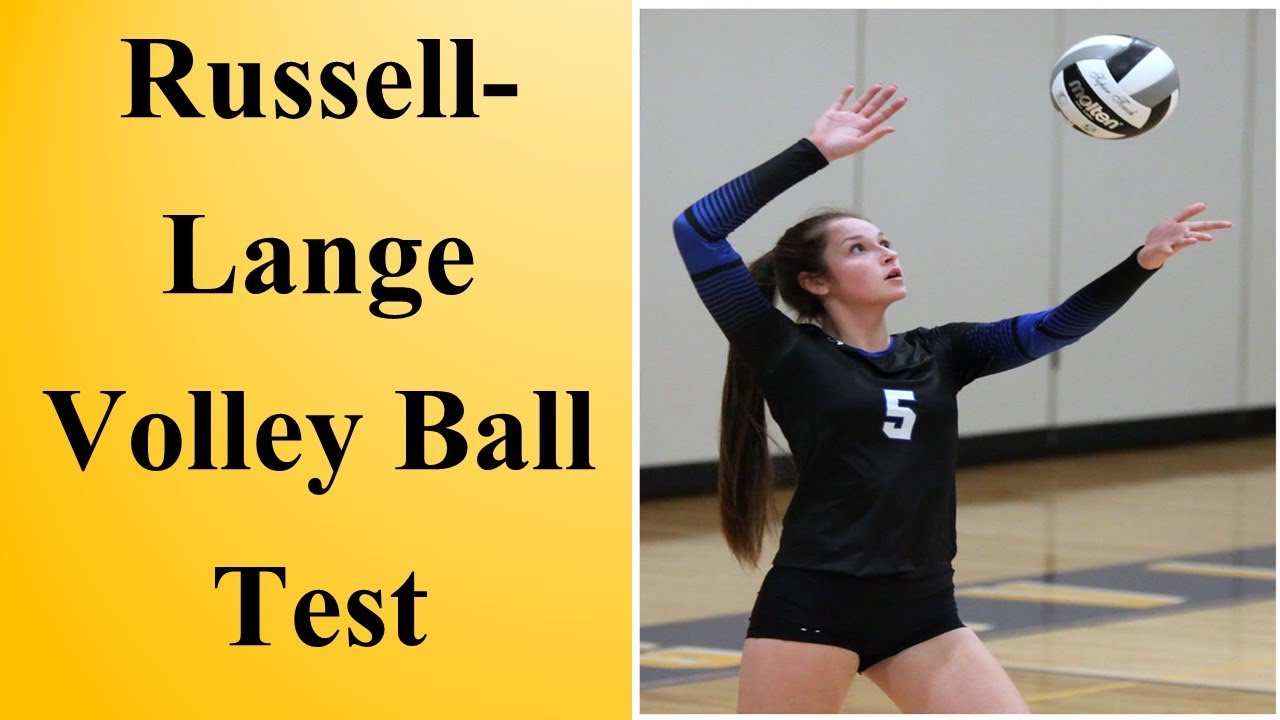 Russell Lange Volleyball Test Physical Education In Hindi And English Youtube
