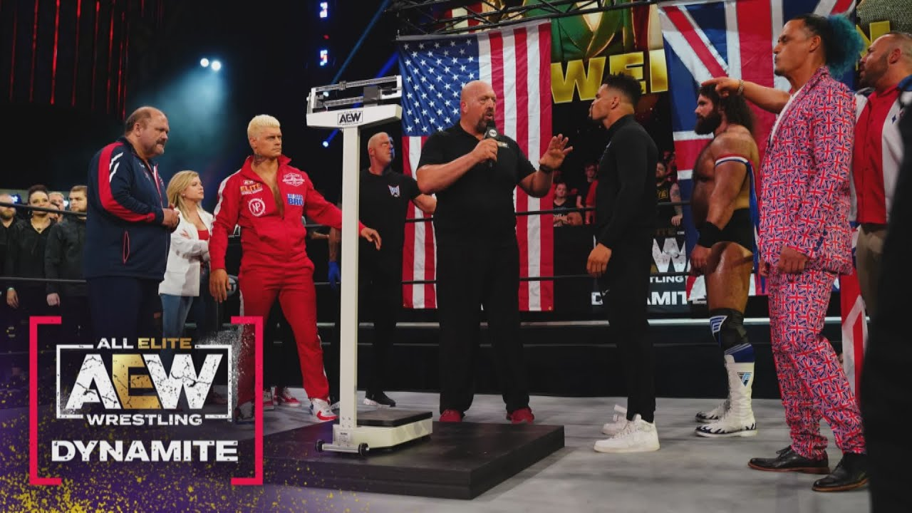 Download Official Weigh In. Cody Rhodes vs the Guv'nor Anthony Ogogo   AEW Friday Night Dynamite, 5/29/21