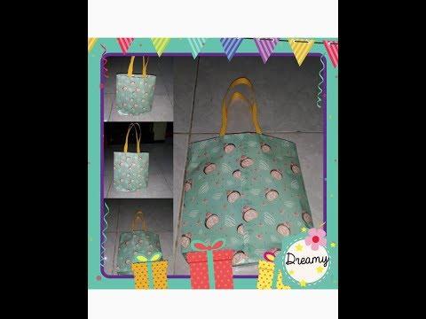 Paper bag for gift - Cara membuat tas dari kertas kado / cara membuat paper bag
