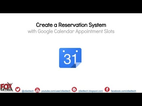 Automate Room Reservation with Google Calendar appointment slots