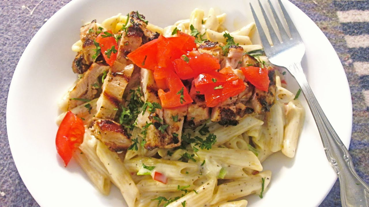 Blackened Chicken AlfredoGrilled Chicken over Penne Rigate