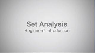 beginners introduction to set analysis qlik sense and qlikview