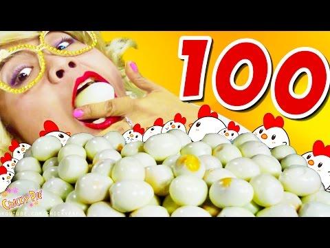 กินจุ กินโชว์ กินไข่ 100 ฟอง【กินอาหารโชว์】ไข่ ไก่【ChickyPie ชิคกี้พาย】