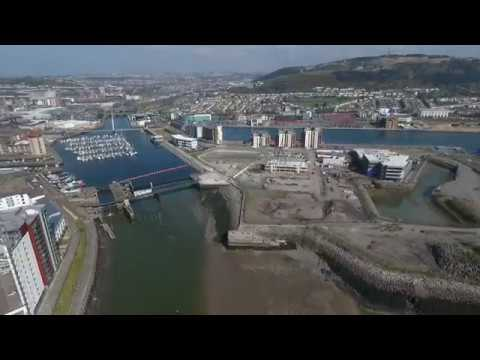 Flying high over our £300 million SA1 Swansea Waterfront development