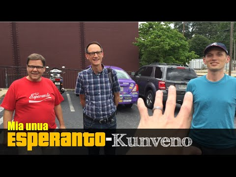 Mia Unua Esperanto-Kunveno!   My first Esperanto meeting