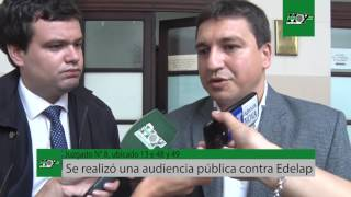 Se realizó una audiencia pública contra Edelap en el juzgado N°8