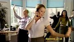 Diamond Car Insurance Office advertisement featuring Diamonds Are a Girls Best Friend