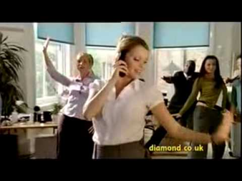 Diamond Car Insurance Office advertisement featuring Diamonds Are a Girls Best Friend
